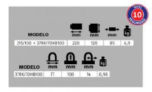 KIT para Contenedores Candado Granit 37RK/70HB100