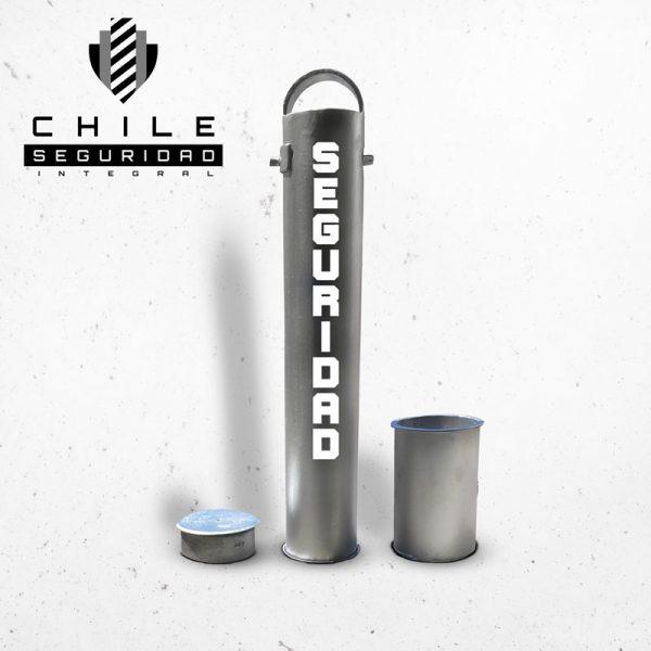 Pilón desmontable gris Chile Seguridad