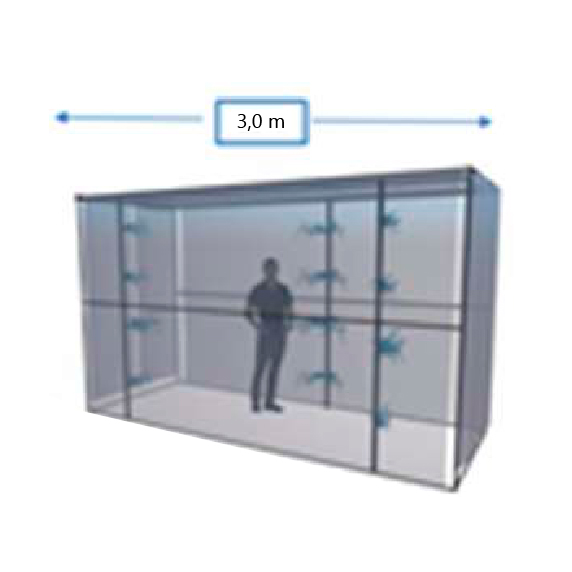 Túnel de sanitización con ozono