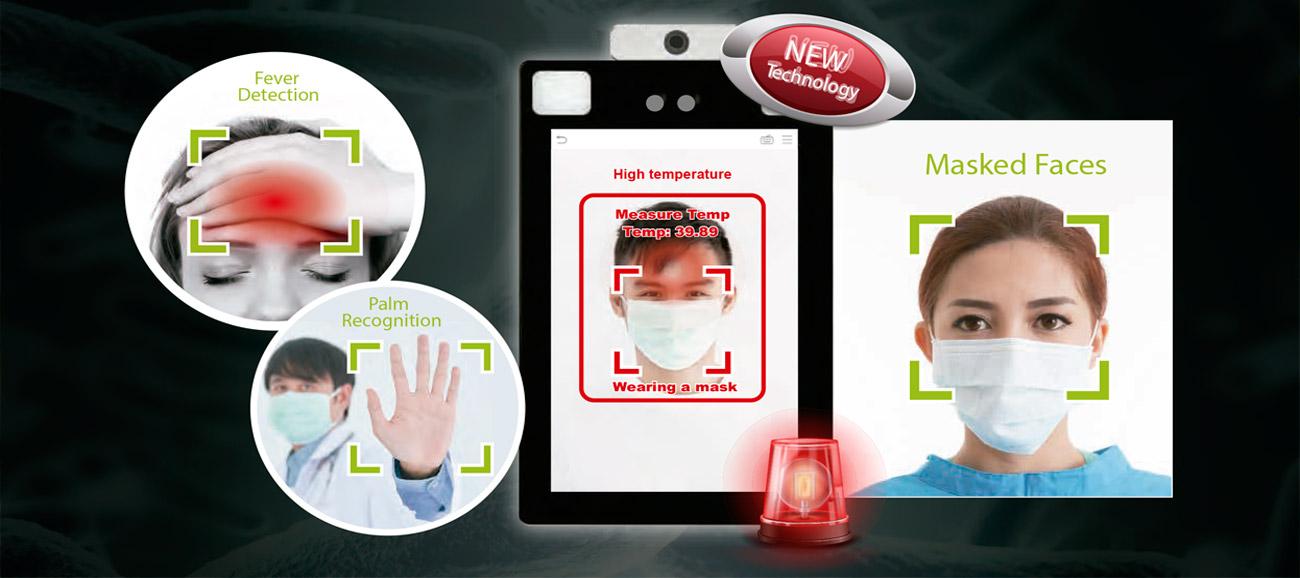 Solución biométrica sin contacto con detección de fiebre